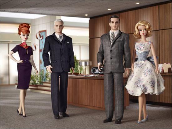 《广告狂人》版芭比娃娃将面世(图)