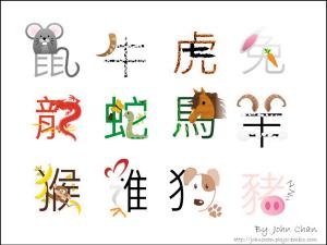 卡通十二生肖字体_十二生肖卡通图矢量艺术字编号85226_书法
