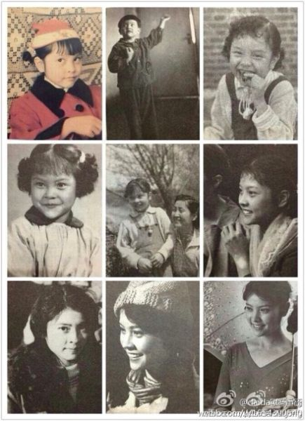冯远征晒梁丹妮从小到大的照片