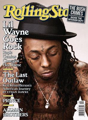 李尔-韦恩登上《滚石》封面新专辑改玩摇滚乐