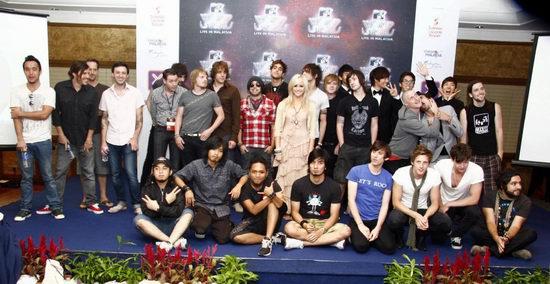 MTV世界舞台马来西亚演唱会上演激情摇滚夜(图)