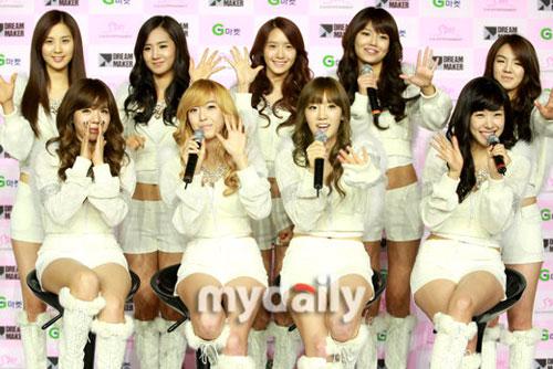 少女时代人气火爆当选韩国年度十大歌手第一名