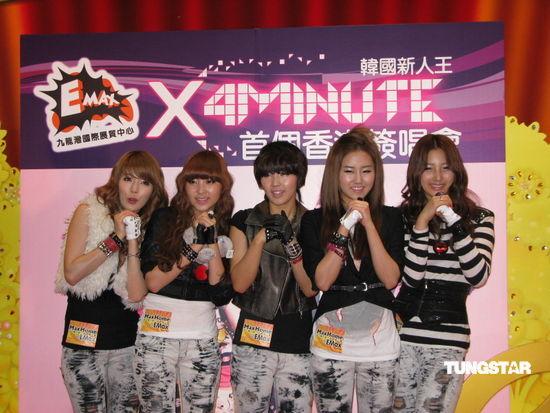 4Minute旋风袭港会歌迷亲和力十足秀热舞(图)