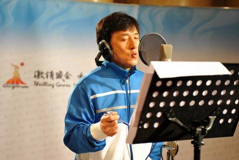 """成龙亚运首度献声录制""""蓝天行动""""公益主题歌"""