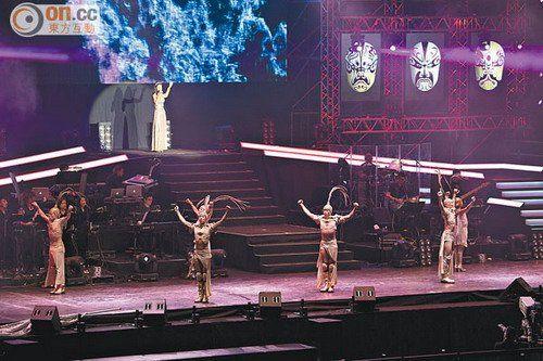 叶倩文前晚首次到澳门举行个唱。