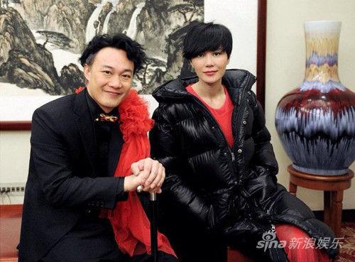 陈奕迅与王菲在春晚后台合影