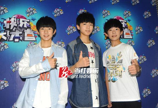 首次参与电视节目录制,三个男孩显得有些生涩。