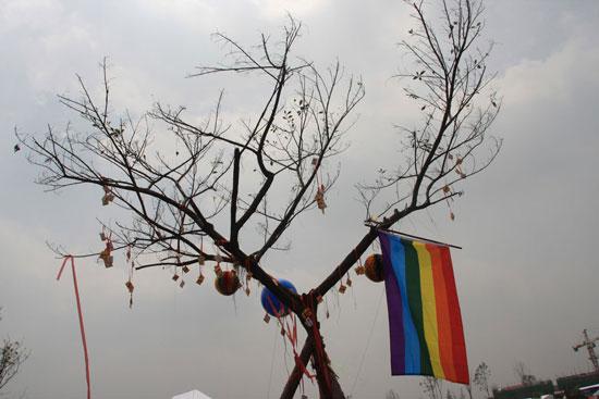图文:热波音乐节--热波音乐节上的许愿树