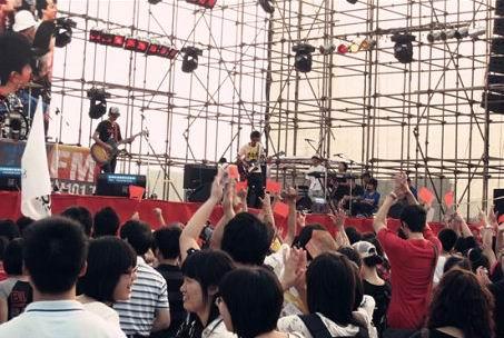 图文:长沙橘州音乐节次日--现场很热烈