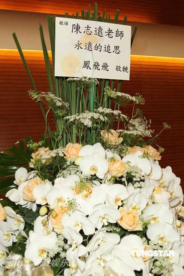 凤飞飞所赠花束