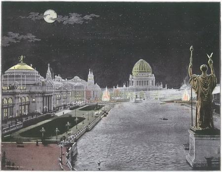 1893芝加哥世博会夜景