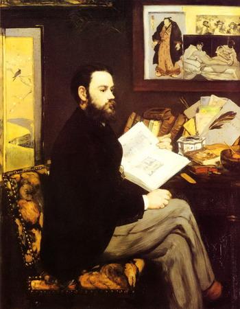 印象派画家马奈绘制的埃米尔・左拉画像