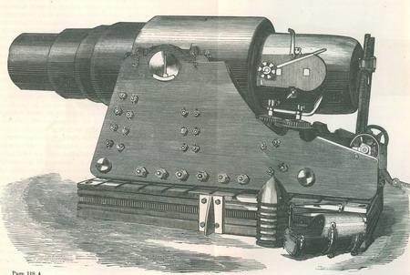 世博会期间出版的参展品图册,详细描绘了克虏伯大炮的细节