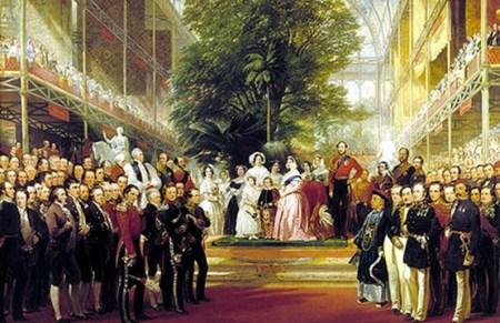 首届世博会开幕式油画,中国面孔出现在右侧显著位置