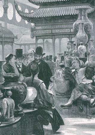 """1878年巴黎世博会中国馆的""""中外交流""""场景,要改变中国形象非一日之功"""