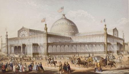 1853年9月1日,纽约水晶宫世博会外景。