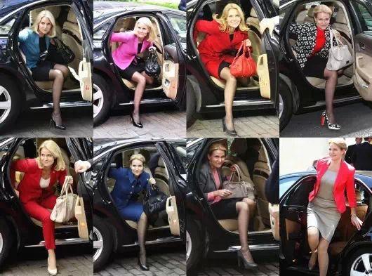 """施密特应该是""""最会穿衣女政要""""排行榜上长期位居前三的选手,看看她每次下车这黑丝长腿,是去走秀呢还是处理国家大事呢?"""