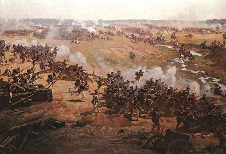 拿破仑战争中,由缺乏训练的新兵组成的法军,只能重拾线性战术,硬碰硬的结果,就是被红衣军彻底压制