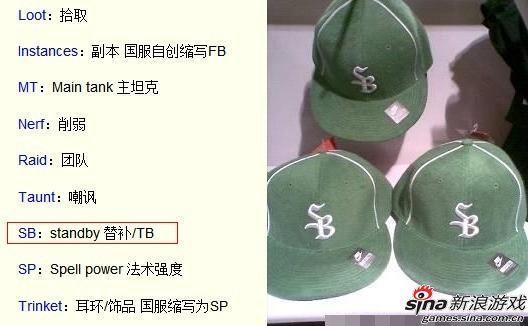 """""""替补""""的缩写和某知名品牌绿帽"""