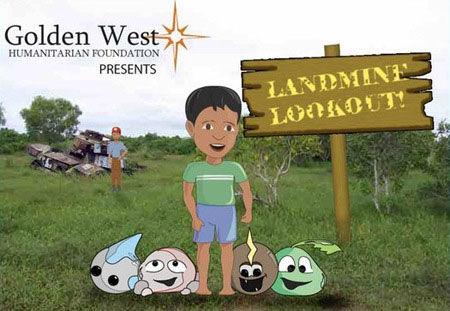游戏帮助柬埔寨儿童躲避雷区