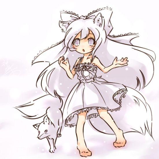 q版狐狸萌图手绘简笔