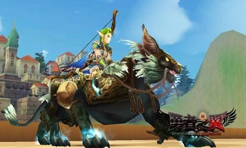 勇者之翼人气坐骑比拼闪雷豹霸气无双