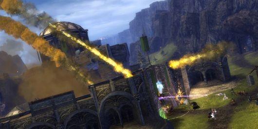 《激战2》世界VS世界PVP中的攻城战
