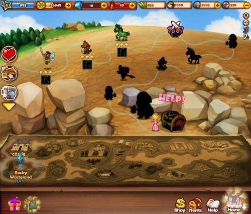 玩家必须闯过重重关卡才能救出公主只是从最下面好几张地图来看.。。公主.。。有好几个?