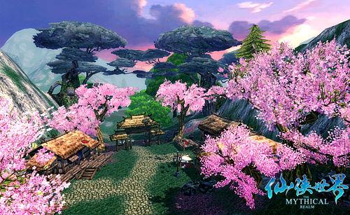 又以极富细腻的画面质感,加入了成片的花海与小岛屿置景,使得整个