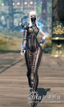 致命的性感 剑灵全套紧身皮衣女装联展-新浪