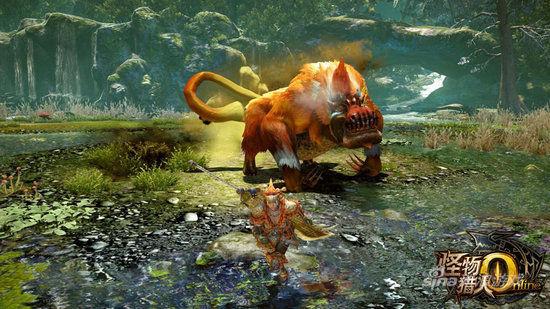 怪物猎人ol公布二测新物种金毛兽王