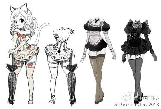 《TERA》女仆装概念图