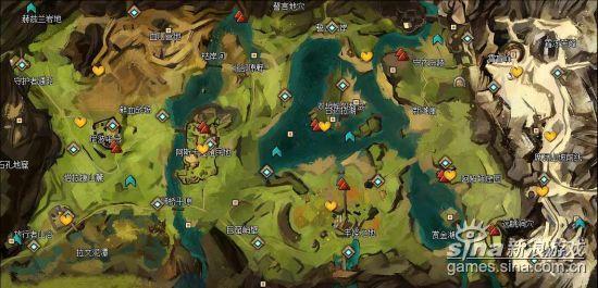 激战2甘达拉战区全地图