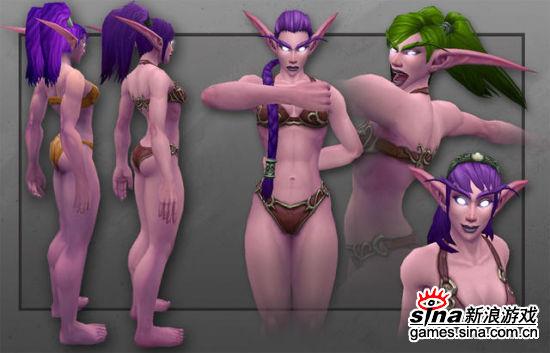 魔兽6.0暗夜女变身肌肉猛女