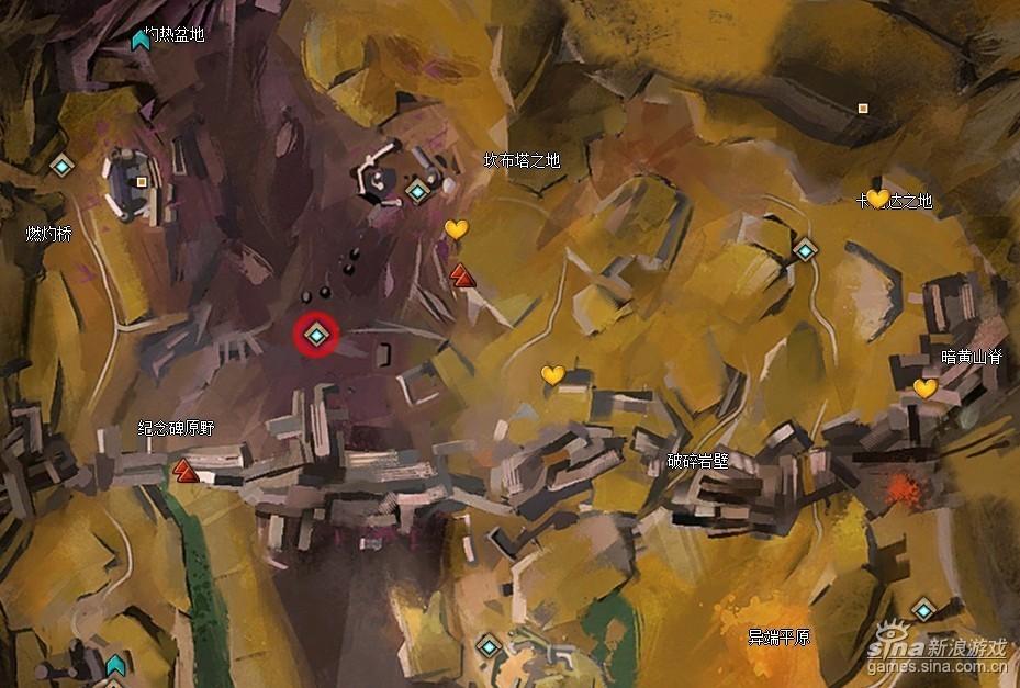 激战2世界BOSS碎裂巨兽刷新地点最近传送点