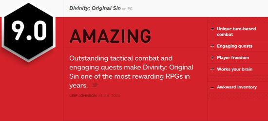 《神界3:原罪》IGN点评