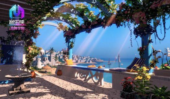 黄昏时分的圣托里尼岛如同一颗璀璨明珠