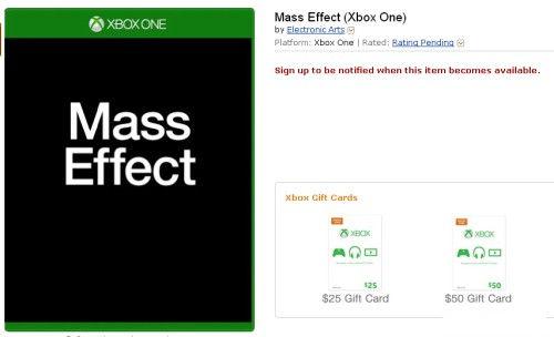 早先XboxOne版本的发售页面
