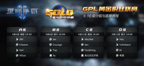 GPL16强分组出炉:老北京五开哥深陷死亡之组