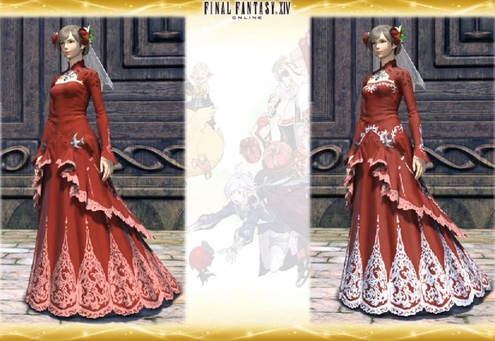 FF14国际服2.45版本结婚系统最新婚纱爆料