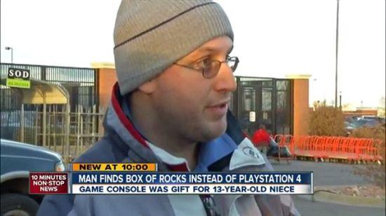 PS4主机变碎石