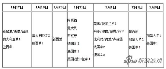 详细日程表