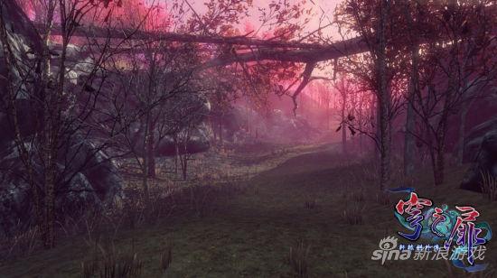 《轩辕剑外传穹之扉》场景实际截图――桃花琼林