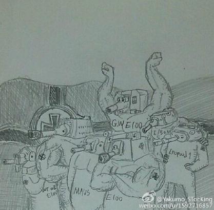 爆笑手绘系列:坦克世界的各系全家福