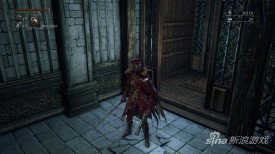 主角的衣服沾满怪物的鲜血
