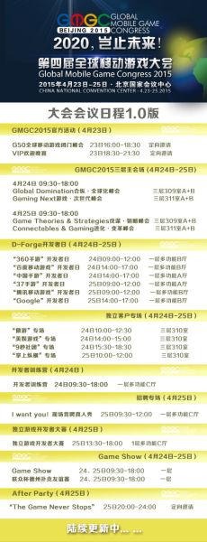GMGC2015大会会议日程首曝光