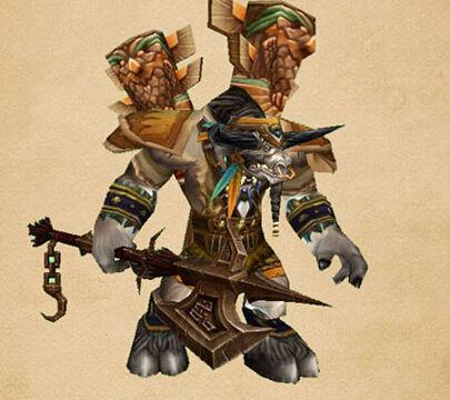 凯恩血蹄的武器:符文长矛
