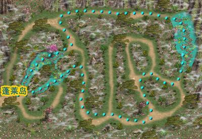 高级玩家练级地图 出现怪物 青衣仙子,雨兽 连接地图 蓬莱岛 h2适合65