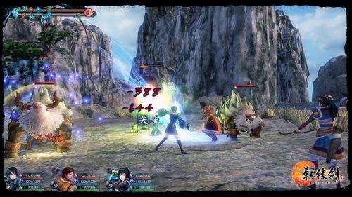 《轩辕剑6》半即时战斗画面