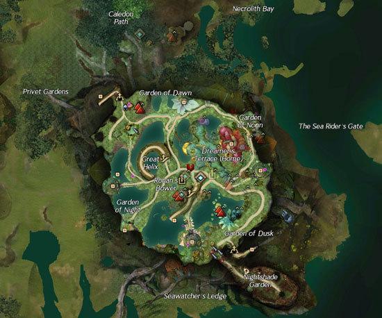 激战2圣林之地一层地图